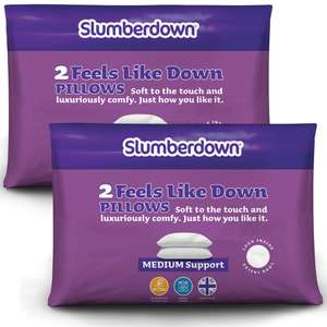 Slumberdown Feels Like Down Pillow with buy one get one free (four pillows) @ Sleep Seeker