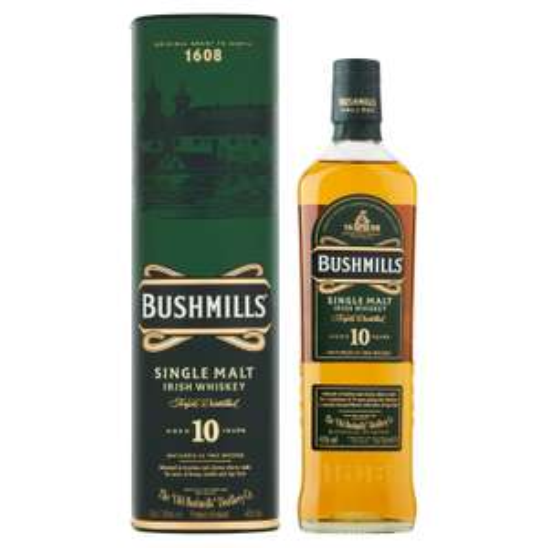 Bushmills 10yr Old Irish Malt Whiskey 70cl £25 @ Sainsbury's