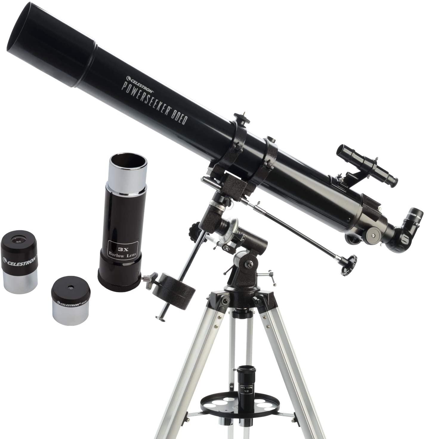 Celestron PowerSeeker 80EQ Telescope £79.99 delivered at Costco
