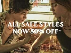All sale styles now 50% off @ AllSaints