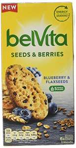 Belvita Raspberry & Chia Seed / Blueberry & Flax Seeds Biscuits 270g £1.39 Prime / £5.88 NP @ Amazon
