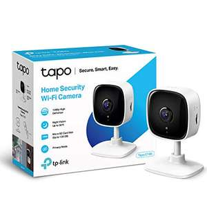 TP-LINK Tapo Mini Smart Security Indoor Camera (Works with Alexa & Google Home, No Hub Required, 1080p) - £19.99 (+£4.49 Non Prime) - Amazon
