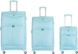 Flight Knight Lightweight 4 Wheel 800D Soft Case Suitcases - 3 set suitcase £39.99 amazon sold by Prime-Shoes.