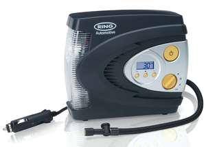 Ring RAC630 12V Digital Tyre Inflator, Air Compressor with Auto stop, Tyre Pump with LED Light, Case and Adaptor Set - £21.95 @ Amazon