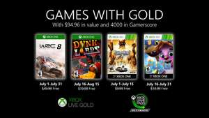 July Games With Gold - WRC 8 / FIA World Rally Championship / Dunk Lords and Saints Row 2