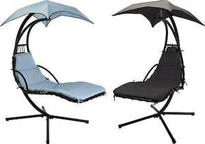 Outdoor Garden Helicopter Hanging Swing Hammock Lounger Chair Sunshade Blue/Grey £172.50 @ eBay XSItems