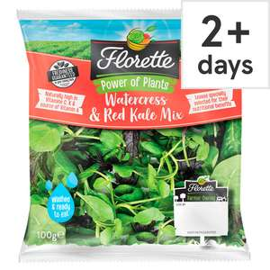 FREE Florette Watercress & Red Kale Mix 100G with code @ Tesco