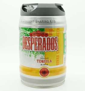 Desperados Tequila Lager 5L sharing keg & two flavoured cider kegs £6.99 each from JobLot Sheffield S5