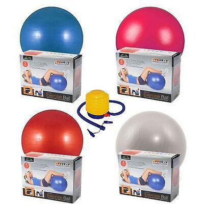 65cm Gym Yoga Ball Exercise Swiss Fitness Pregnancy Birthing Anti Burst + Pump - £7.95 delivered @ foido / eBay