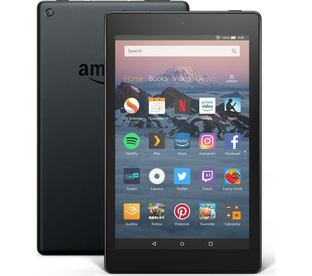 AMAZON Fire HD 8 Tablet (2018) - 16 GB, Black £44.97 @ Currys