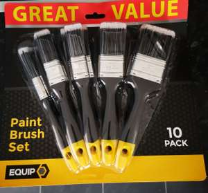 Equip 10 pack paint brush set £1.99 instore @ Home Bargains Newton Mearns (Glasgow)