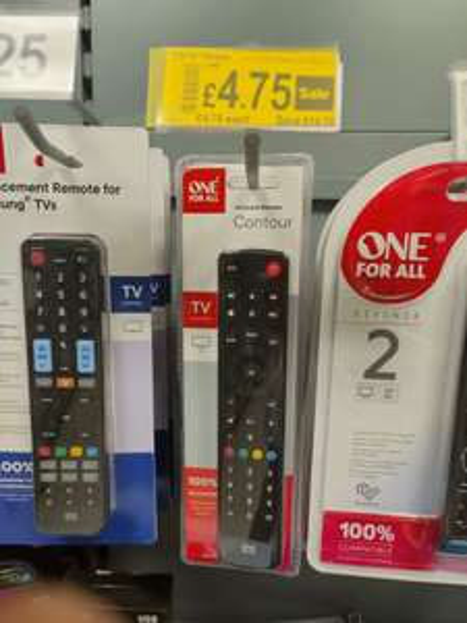 One for all contour universal remote Asda in store (Retford) for £4.75