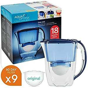 Aqua Optima Oria Blue 2.8L Water Filter Fridge Jug With 9 x 60 Day Cartridges £29.99 @ ebay / daily-deals-ltd