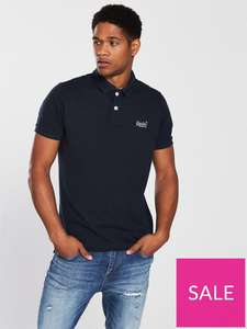 Superdry Navy polo shirt £10.25 + delivery @ Very