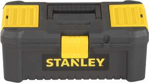 "Stanley STST1-75514""Essential"" 12.5"" Toolbox with Plastic Latches, Black/Yellow £5 + £4.49 NP @ Amazon"