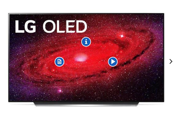 """LG OLED65CX5LB 65"""" 4K Smart OLED TV £2469.99 @ Tekzone"""