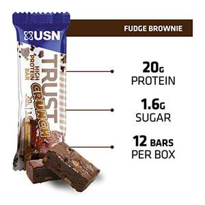 USN Trust Crunch Protein Bar - 20 g of Protein Per Protein Bar, Fudge Brownie, 12 x 60g Protein Bars £12 @ Amazon (+£4.49 Non-prime)