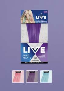 Live Colour Wild Wefts Hair Clip in strands - 69p @ Home Bargains
