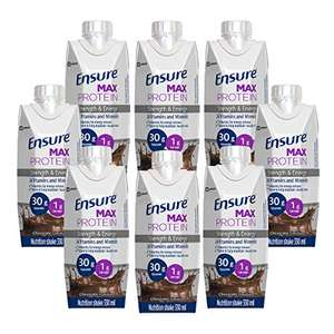 Ensure Max Protein Milk Chocolate Flavour Nutritional Shake, pack of 8 £14 (+£4.49 non-prime) @ Amazon