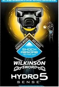 Wilkinson Sword Hydro 5 Sense 4 blades - £4.98 + Free Click and Collect / £3 delivery @ Superdrug
