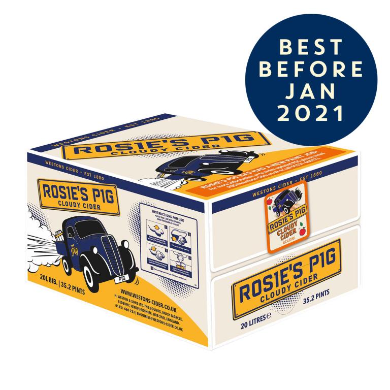Rosie's Pig Cloudy Still Cider (1 x 20l) - £35 delivered @ Westons Cider