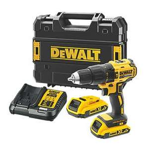 DEWALT DCD778D2T-GB 18V 2 x 2.0AH LI-ION XR Brushless Cordless Combi Drill with charger - £119.99 at Screwfix + free Click and Collect