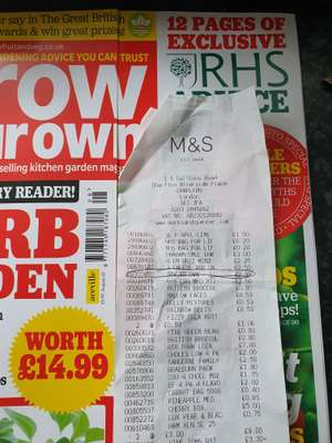 """""""Grow Your Own"""" mag for £2.99 instore @ M&S Charlton (with free seeds)"""