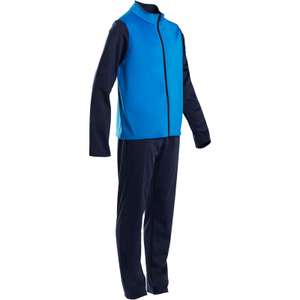 Boys DOMYOS S500 Gym'y Boys' Warm Breathable Synthetic Gym Tracksuit - Navy Blue/Red £4.99 + £6.99 postage @ Decathlon