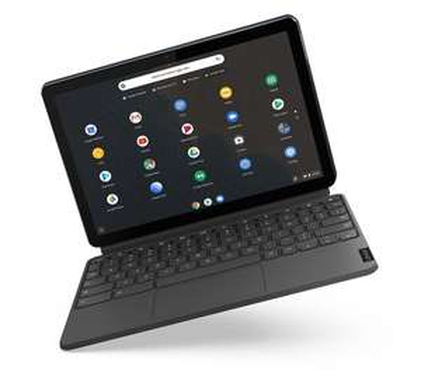 "LENOVO IdeaPad Duet 10.1"" 2 in 1 Chromebook - MediaTek P60T, 128 GB eMCP, Blue & Grey - £349 @ Currys PC World"