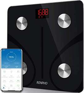 RENPHO Bluetooth Body Fat Scale with Smartphone App - £29.99 Sold by Energia Team and Fulfilled by Amazon