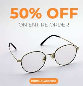 50% off orders for home-branded frames and lenses at Goggles4u