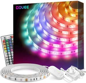 Govee RGB 5m Lighting Strip Kit £14.49 For Both Prime & Non Prime Members - Sold by Govee UK and Fulfilled by Amazon.