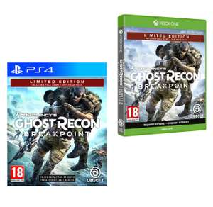 Tom Clancy's Ghost Recon Breakpoint Limited Edition (PS4 / Xbox One) for £14.99 (Prime) / £17.98 (Non Prime)