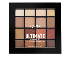 NYX Professional Makeup Ultimate Eye Shadow Palette, Pressed Pigments, 16 Shades £12 (Prime) £9.60 (S&S) £16.49 (Non Prime) @ Amazon