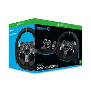 Logitech G920 Driving Force Racing Wheel and Floor Pedals, Xbox One/PC/Mac - Black £212.09 @ Amazon