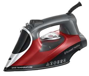 Russell Hobbs 25090 One Temperature Steam Iron, 2600 W, Red/Black - £25 (+ £5 off with code on selected accounts) @ Amazon
