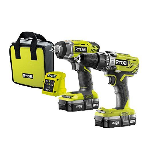 Ryobi R18PD3 Combi Drill & R1801M Impact Driver - £140.88 @ Amazon