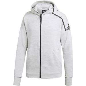 Adidas Mens Z.N.E Sweatshirt Hoodie Silver £16.99 or Black £14.99 in size XXL + £2.99 delivery at Clearanceshed