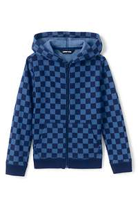 Kids' Patterned Zip-through Hoodie £12 + £3.95 delivery at Lands End