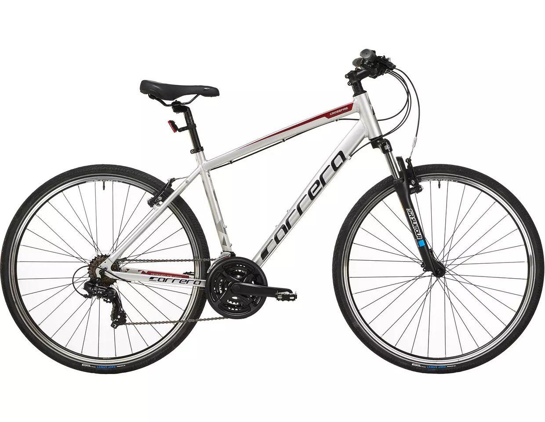 Carrera Crossfire 1 Mens Hybrid Bike 2020 - Silver - £275 @ Halfords