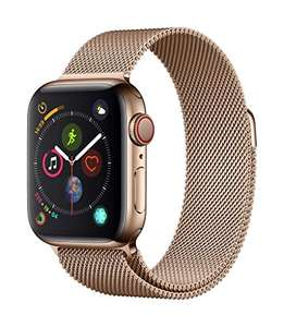 Apple Watch Series 4 (GPS + Cellular, 40mm) - Gold Stainless Steel Case with Gold Milanese Loop - £516.20 at Amazon