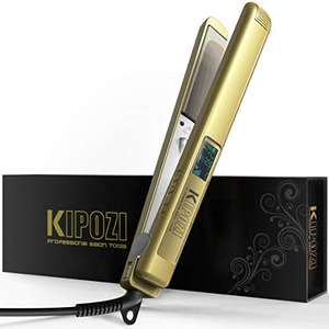 KIPOZI Pro Hair Straighteners Flat Iron Golden - £13,99, Sold by KP BeautyDirect-EU and Fulfilled by Amazon.