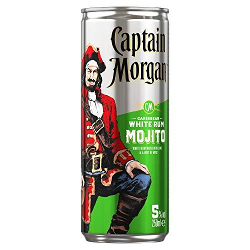 Captain Morgan White Rum Mojito, 250ml (12 pack) only £3.87 (+£4.49 Non Prime) @ Amazon