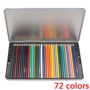 72 colour Pencils Water Soluble Colored Art Drawing Pencil Wood - £9.89 @ pig-onthetrees2 / eBay