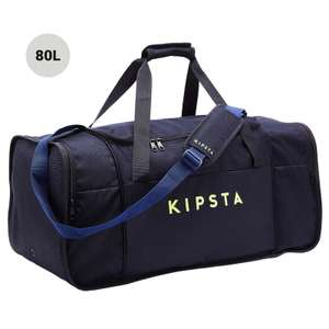 Kipsta Kipocket Sports Bag 80 Litres - Blue/Yellow - £9.99 + Free Click and Collect @ Decathlon