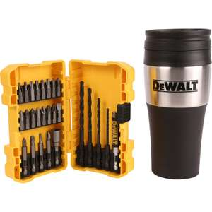 DeWalt 26 Piece Bit Set With Thermos Flask - £19.99 + Free Click & Collect @ Toolstation