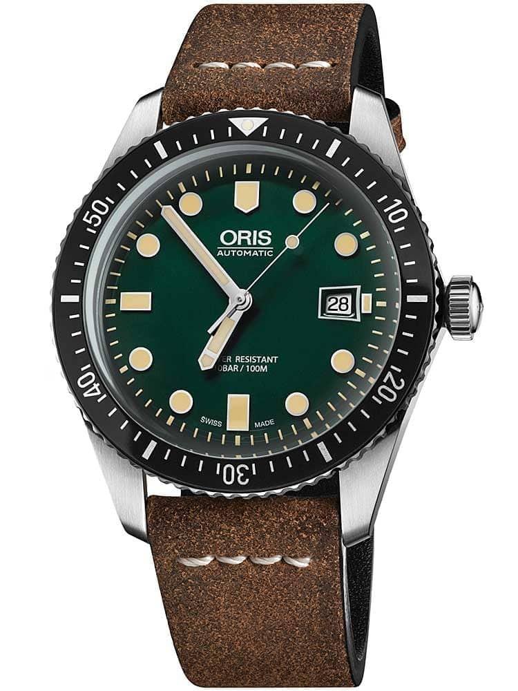 Oris Divers Sixty-Five Brown Leather Strap Watch £1159.99 @ Jewel Hut