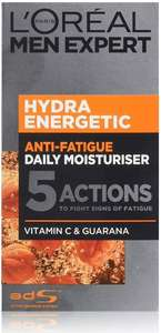 L'Oréal Paris men expert hydra energetic anti fatigue moisturizer 50ml £4.25 prime (£4.49 p&p non prime) @amazon