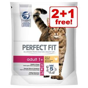 3 for 2 Perfect fit dry cat food - £9.89 / £13.88 @ Zooplus (free delivery wys £35)