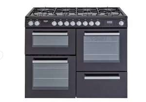 Bush BRC100DHMB 100cm Dual Fuel Range Cooker - Black Now £499 with Free Delivery From Argos